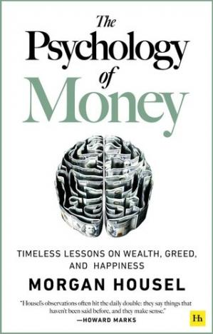 A capa do livro The Psychology of Money: Timeless Lessons on Wealth, Greed, and Happiness