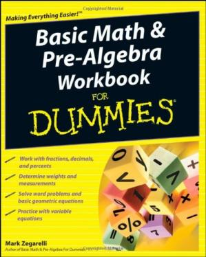 Book cover Basic Math & Pre-Algebra Workbook For Dummies (For Dummies (Lifestyles Paperback))