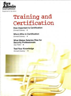 Book cover Sys Admin, Supplement 2006: Training and Certification