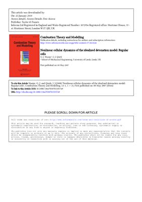 Book cover Review articles on the study of combustion. Combustion Theory and Modelling. Volumes Part 12 1-13