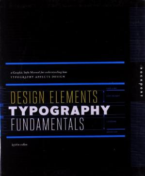 Book cover Design Elements, Typography Fundamentals: A Graphic Style Manual for Understanding How Typography Affects Design