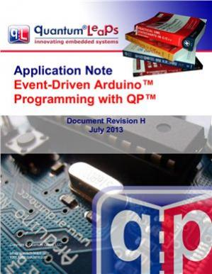 Book cover Application Note: Event-Driven Arduino. Programming with QP: Document Revision H