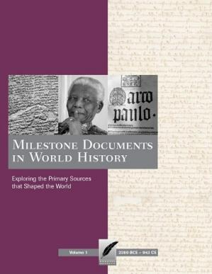 Sampul buku Milestone Documents in World History: Exploring the Primary Sources That Shaped the World