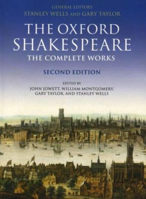 A capa do livro The Oxford Shakespeare: The Complete Works, Second Edition