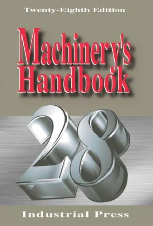 Book cover Machinery's Handbook, 28th edition, with additional material on CD