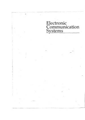 Book cover Electronic communication systems