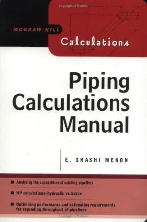 غلاف الكتاب Piping Calculations Manual