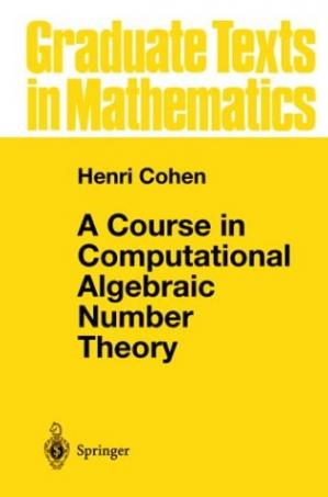 Book cover A course in computational algebraic number theory