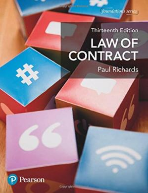 Book cover LAW OF CONTRACT