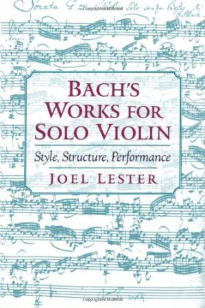 Bìa sách Bach's works for solo violin: style, structure, performance