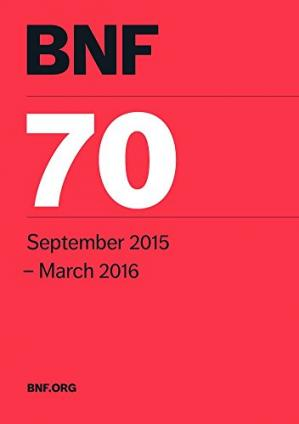 Sampul buku British National Formulary (BNF) 70: Joint Formulary Committee - 70. September 2015-March 2016