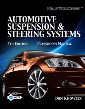 Book cover Automotive Suspension & Steering Systems (Classroom Shop Manuals), 5th