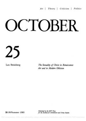 Обложка книги October journal No.25 Summer (1983) The Sexuality of Christ in Renaissance Art and Modern Oblivion