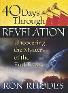 Book cover 40 Days Through Revelation. Uncovering the Mystery of the End Times