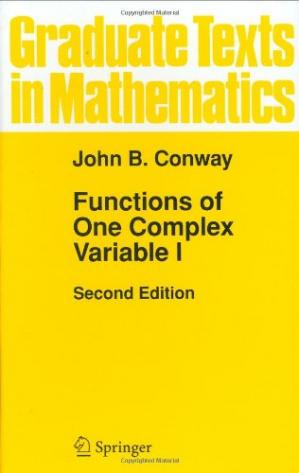 Book cover Functions of one complex variable