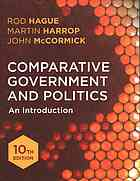 Book cover Comparative government and politics an introduction