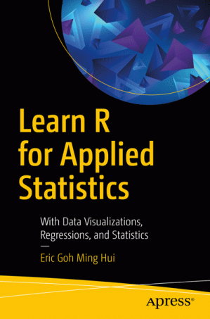 Sampul buku Learn R for Applied Statistics: With Data Visualizations, Regressions, and Statistics