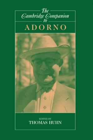 Εξώφυλλο βιβλίου The Cambridge Companion to Adorno