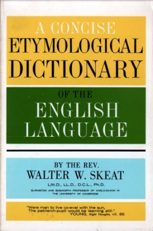 غلاف الكتاب A concise etymological dictionary of the English language