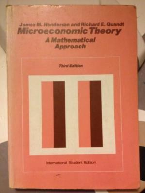 Book cover Microeconomic Theory: A Mathematical Approach