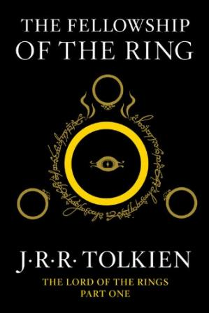 Book cover The Fellowship of the Ring: Being the First Part of The Lord of the Rings