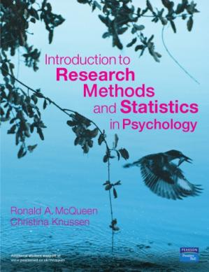 Book cover Introduction to research methods and statistics in psychology