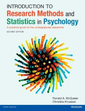 Book cover Introduction to Research Methods and Statistics in Psychology: A practical guide for the undergraduate researcher