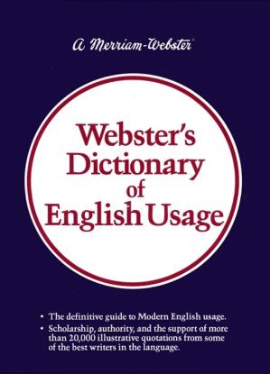 Book cover Webster's Dictionary of English Usage