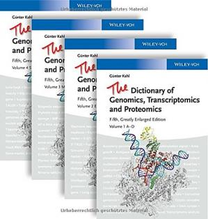 Portada del libro The Dictionary of Genomics, Transcriptomics and Proteomics