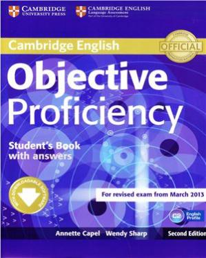 Book cover Cambridge English. Objective Proficiency - Second Edition. Student's Book - Part 1