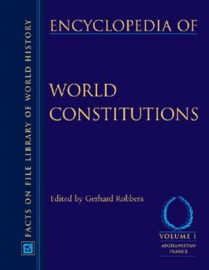 Book cover Encyclopedia of World Constitutions