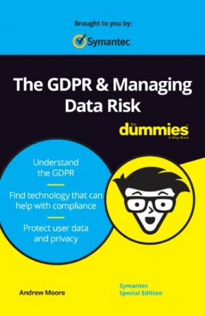 Book cover The GDPR & Managing Data Risk For Dummies®, Symantec Special Edition