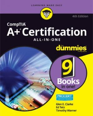 A capa do livro CompTIA A+ Certification All-in-One For Dummies