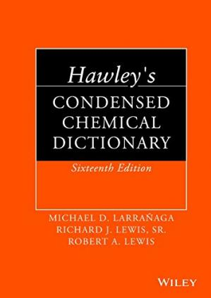 Book cover Hawley's Condensed Chemical Dictionary