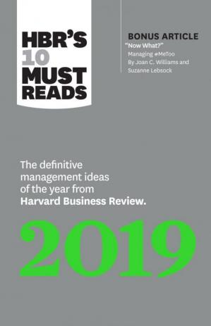 A capa do livro HBR's 10 Must Reads 2019: The Definitive Management Ideas of the Year from Harvard Business Review