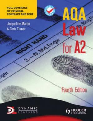 Book cover AQA law for A2