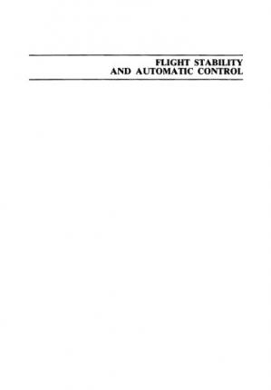 A capa do livro Flight Stability and Automatic Control [OCR]