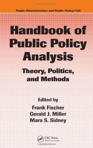 Copertina Handbook of Public Policy Analysis: Theory, Politics, and Methods (Public Administration and Public Policy)