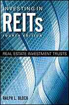 Обкладинка книги Investing in REITs : real estate investment trusts