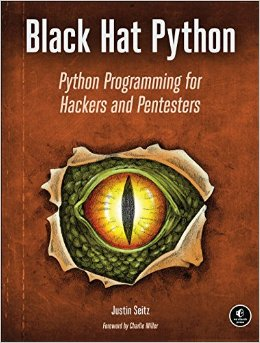 Book cover Black Hat Python: Python Programming for Hackers and Pentesters