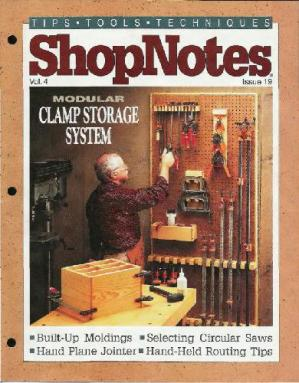 Buchdeckel Woodworking Shopnotes 019 - Modular Clamp Storage System