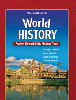 Book cover World History, Grades 6-8 Ancient Through Early Modern Times: Mcdougal Littell Middle School World History