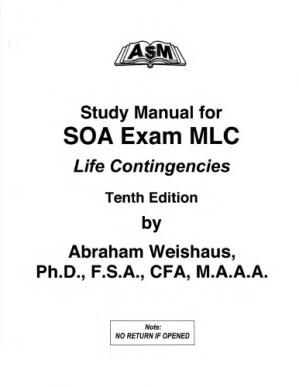 पुस्तक कवर Study Manual for Actuarial Exam Models for Life Contingencies