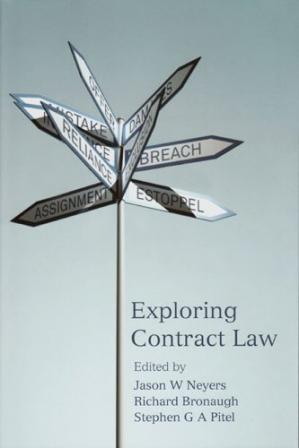 Book cover Exploring Contract Law