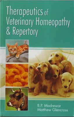 Bìa sách Therapeutics of veterinary homoeopathy and repertory