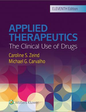 Book cover Applied therapeutics: the clinical use of drugs