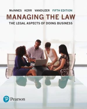 Book cover Managing the Law: The Legal Aspects of Doing Business