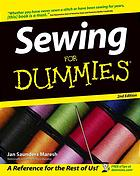 Couverture du livre Sewing for dummies