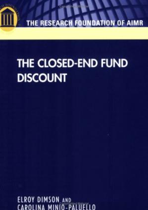 Couverture du livre The Closed-End Fund Discount