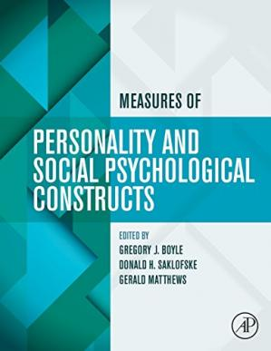 Couverture du livre Measures of personality and social psychological constructs